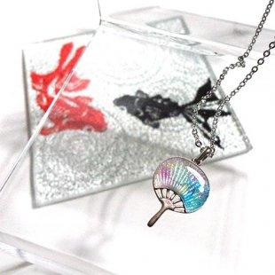 [七宝焼き] 団扇のネックレス