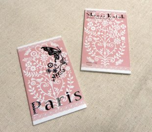 Shinzi Katoh  【名刺サイズメモ】Paris