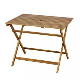 オイル仕上げのアカシア材ガーデンファニチャーシリーズ [Bタイプ] 折りたたみテーブル90×70cm