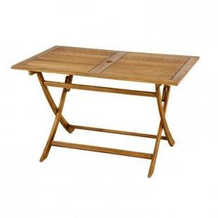 オイル仕上げのアカシア材ガーデンファニチャーシリーズ [Aタイプ] 折りたたみテーブル120×75