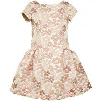 【残り一点!サイズ4のみ】Bonnie Jean ピンクフラワーのバックリボンドレス(キッズサイズ)