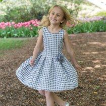 【残り一点!サイズ12のみ】Bonnie Jean ドットジャガードドレス(ジュニアサイズ)