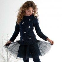 【残り一点!サイズ7のみ】Kate Mack スパークルニットドレス(ジュニアサイズ)