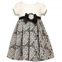 Bonnie Jean フローラルパターンのニットジャガードドレス(キッズサイズ)