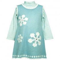 【アウトレット】Bonnie Jean スノーフレークジャンバースカートセットNo.2(サイズ5/6x)