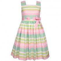 Bonnie Jean マルチストライプのワンピースドレス(ジュニアサイズ)