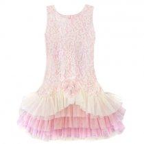 Isobella and Chloe ピンクレースのワンピースドレス(サイズ4〜14)
