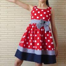 Bonnie Jean 赤のポルカドットドレス(キッズサイズ)
