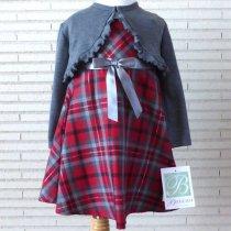 Bonnie Jean ボレロ付き赤×グレーチェックのワンピース(トドラーサイズ)