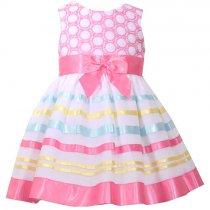 Bonnie Jean マルチカラーのボーダードレス(キッズサイズ)