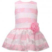 Bonnie Jean ピンク×ホワイトのレースドレス(キッズサイズ)