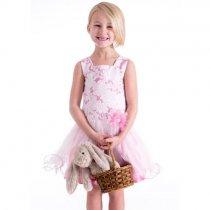 Bonnie Jean ピンクのワイヤーヘムドレス(ジュニアサイズ)