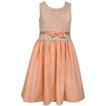 Bonnie Jean コーラルピンクのドレス(ジュニアサイズ)