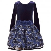 Bonnie Jean シルバーラインフラワーの長袖ドレス(キッズサイズ)