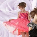 Bonnie Jean フクシアピンクのドレス(キッズサイズ)