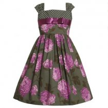 Bonnie Jean 紫のお花のドレス(キッズサイズ)