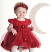 【残り一点!4Tのみ】Biscotti 赤のフラワーバルーンドレス(トドラーサイズ)