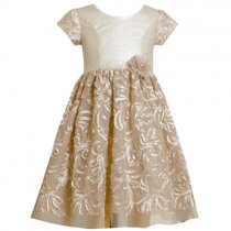 Bonnie Jean フェイクレザーのゴールドドレス(キッズサイズ)