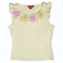 Kate Mack ピンク×イエローコサージュのTシャツ(キッズサイズ)