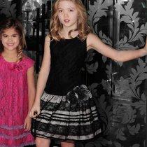 【残り一点!4Tのみ】Isobella and Chloe ブラックレースドレス(キッズサイズ)