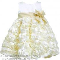 Bonnie Jean アイボリーのフラワースカートドレス(トドラーサイズ)