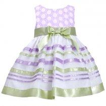 Bonnie Jean グリーン×パープルのボーダードレス(トドラーサイズ)
