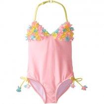 【残り一点!サイズ4のみ】Kate Mack ベビーピンクのフラワーワンピース水着(キッズサイズ)