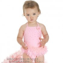 Kate Mack オレンジピンクのキラキラワンピース水着(トドラーサイズ)