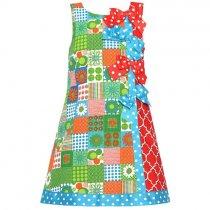 【残り一点!サイズ4のみ】Bonnie Jean パッチワークプリントのサマードレス(キッズサイズ)