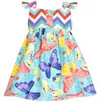 【残り一点!サイズ5のみ】Bonnie Jean バタフライのサマードレス(キッズサイズ)
