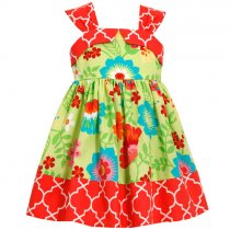 Bonnie Jean フラワープリントのサマードレス(トドラーサイズ)