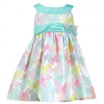 【残り一点!サイズ4のみ】Bonnie Jean バタフライのシマードレス(キッズサイズ)