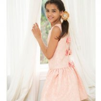 Bonnie Jean ゴールド刺繍のバックリボンドレス(キッズサイズ)