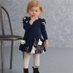 【残り一点!3Tのみ】Biscotti ヘムコサージュのワンピースドレス(トドラーサイズ)