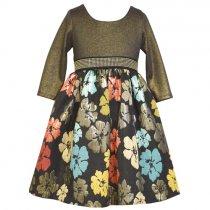 【残り一点!サイズ10のみ】Bonnie Jean フローラルブロケードドレス(ジュニアサイズ)