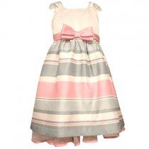 Bonnie Jean ピンク×グレーのボーダードレス(トドラーサイズ)