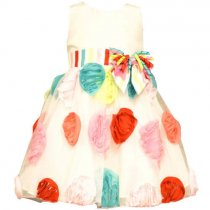 【アウトレット!】Bonnie Jean カラフルフラワーのバースデイドレスドレス(2T)