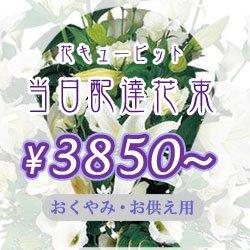 花キューピット当日配達 お供え用 花束おまかせ