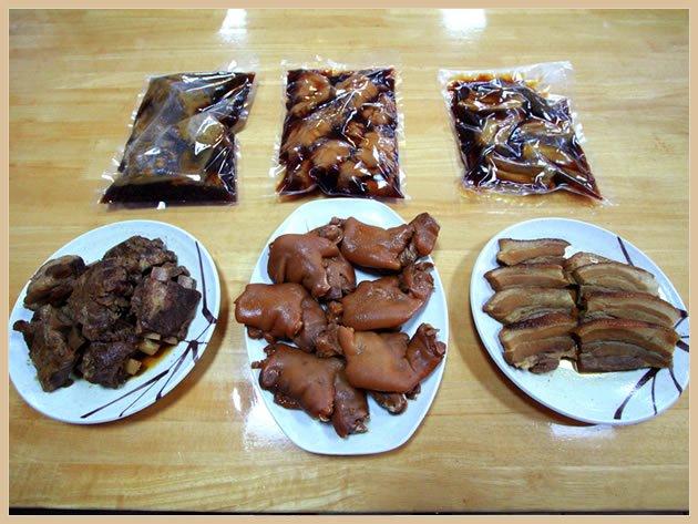 アワセそば食堂 ソーキ・てびち・三枚肉3点セット