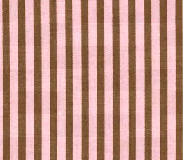 ストライプ ピンク&ブラウン - ...