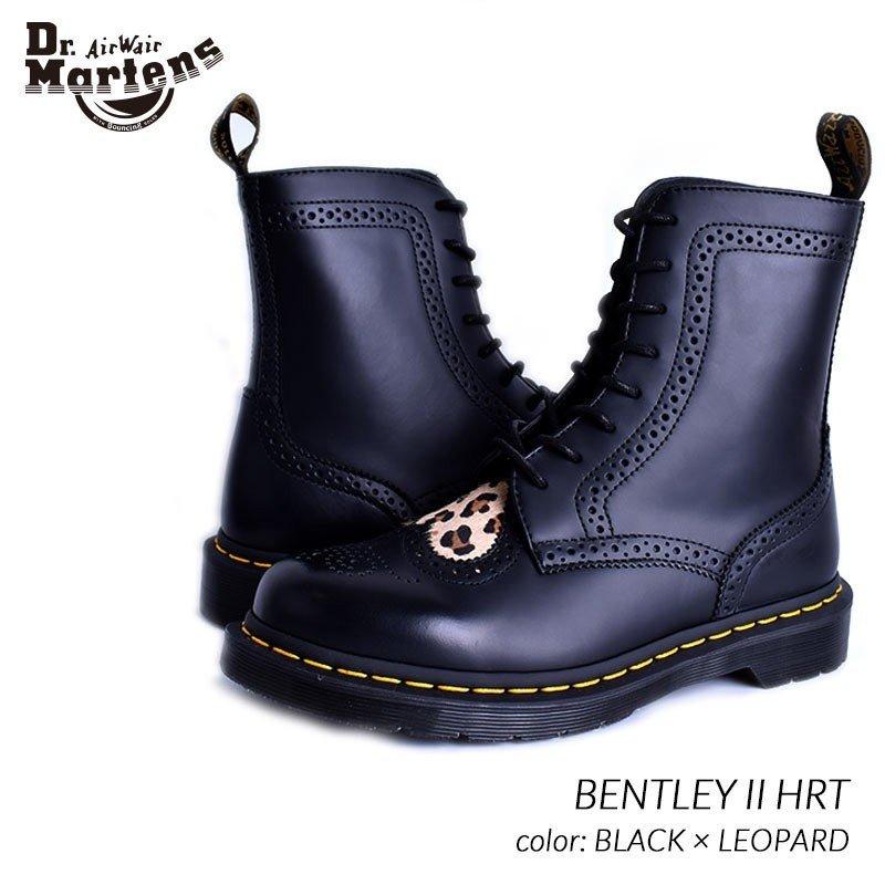 限定 ドクターマーチン シューズ ブーツ Dr.Martens BENTLEY II HRT BLACK ( レザー ヒョウ柄 ショートブーツ レディース メンズ 23799001 )