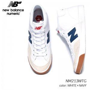 日本未発売 NEW BALANCE NUMERIC NM213WTG WHITE × NAVY ニューバランス ヌメリック ハイカット スニーカー ( 海外限定 白 青 ホワイト メンズ スケート )