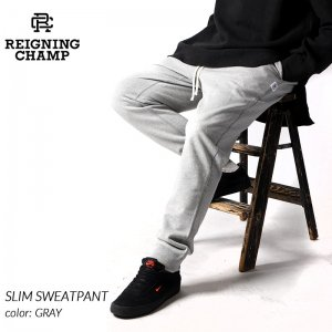 <img class='new_mark_img1' src='https://img.shop-pro.jp/img/new/icons47.gif' style='border:none;display:inline;margin:0px;padding:0px;width:auto;' />REIGNING CHAMP SLIM SWEATPANT GRAY レイニングチャンプ スリム スウェットパンツ ( レーニングチャンプ スエットパンツ グレー RC-5075 )