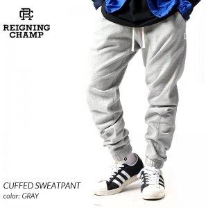 REIGNING CHAMP CUFFED SWEATPANT GRAY レイニングチャンプ カフズ スウェットパンツ ( レーニングチャンプ スエットパンツ グレー RC-5175 )