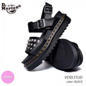 Dr.Martens VOSS STUD BLACK ドクターマーチン ボス スタッヅ レザー サンダル ( ヴォス スタッズ 黒 ブラック メンズ レディース 厚底 25454001 )