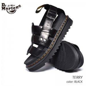 Dr.Martens TERRY BLACK ドクターマーチン テリー レザー サンダル ( 黒 ブラック メンズ レディース 厚底 23521001 )