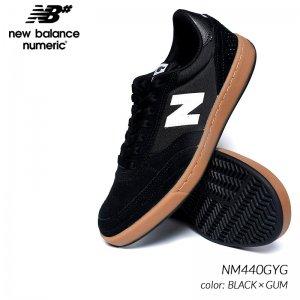 日本未発売 NEW BALANCE NUMERIC NM440GYG BLACK × GUM ニューバランス ヌメリック スニーカー ( 海外限定 黒 ブラック メンズ スケート )