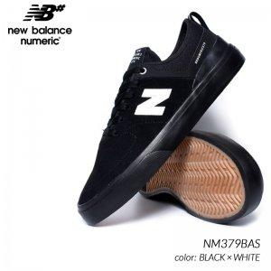 日本未発売 NEW BALANCE NUMERIC NM379BAS BLACK × WHITE ニューバランス ヌメリック スニーカー ( 海外限定 SKATE スケート 黒 ブラック メンズ )