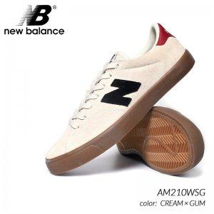 日本未発売 NEW BALANCE AM210WSG CREAM × GUM ニューバランス スニーカー ( 海外限定 クリーム ベージュ グレー メンズ  )