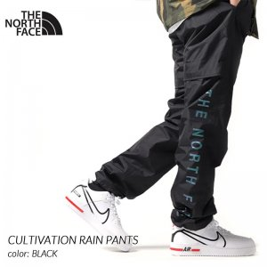 日本未発売 THE NORTH FACE CULTIVATION RAIN PANTS BLACK ザ ノースフェイス ナイロン パンツ( 黒 NF0A3MICAW2 )